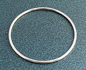 """.100"""" Round Sterling Silver Bangle Bracelets"""