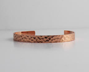 """1/4"""" to 3/4"""" Copper Cuffs With Hammered Pattern"""