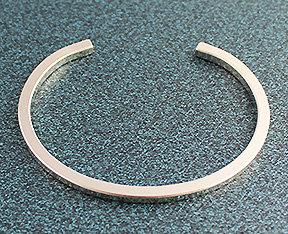 """.125"""" Square Sterling Silver Wire Cuff"""