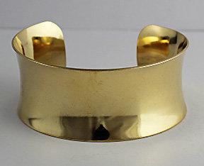 """1 1/8"""" Concave Brass Cuffs"""