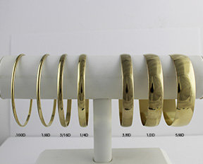 """Domed Seamless Bangles Size 2 1/2"""" ID .060"""" Wall"""