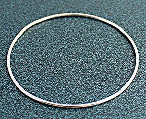 """.064"""" Round Sterling Silver Bangle Bracelets"""