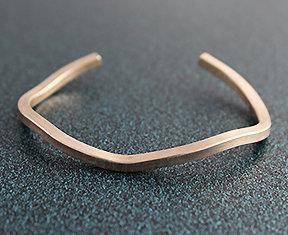 """8125 - .125"""" Square Sterling Silver Wire Cuff"""