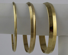 Triangle Domed Seamless Bangles