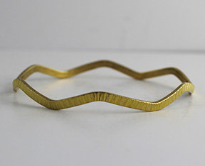 Wave Shaped Bangles with Birch Pattern