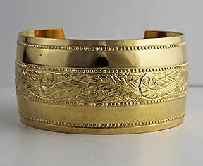 "1 1/4"" Domed Brass Cuff"