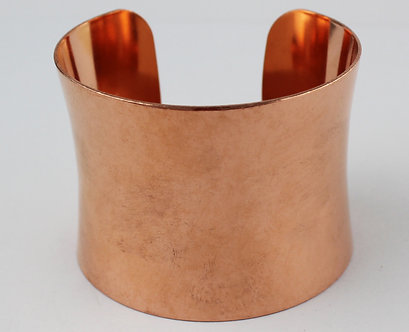 "New! 2"" Concave Copper Cuff Bracelets"