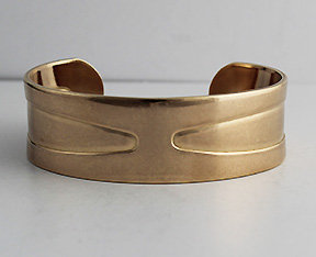 "3/4"" Brass Cuffs With Raised/Recessed Patterns"
