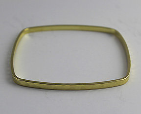 Square Shaped Bangles with a Hammered Pattern