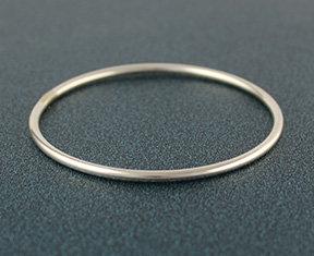 """New! .120"""" Round Bangle Bracelet"""