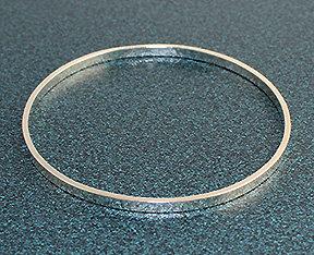 "1/8"" Wide Sterling Silver Bangle Bracelets"
