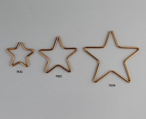 Brass Wire Shaped Stars