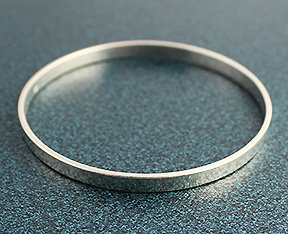 """3/16"""" Wide Sterling Silver Bangle"""