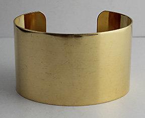"""1 1/2"""" Brass Cuffs"""
