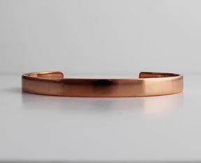 """1/4"""" to 3/4"""" Plain Copper Cuffs"""