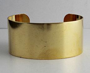 """1 1/8"""" Brass Cuffs"""
