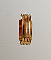 """3/8"""" Wide Earring With Three Channels For Epoxy"""