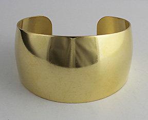 "1 1/4"" Domed Tapered Brass Cuffs"