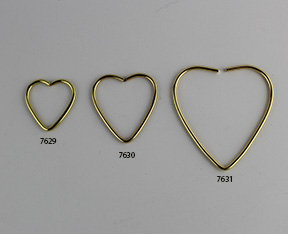 Brass Wire Shaped Hearts