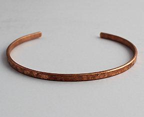 """1/8"""" Copper Hammered Cuff Bracelet"""