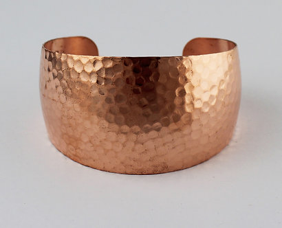 New! Domed Tapered Copper Cuffs