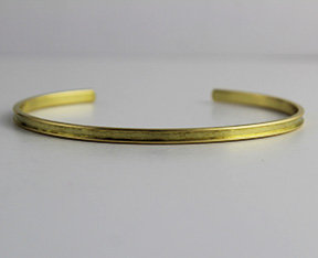 "1/8"" to 1"" Brass Cuffs With Channel"