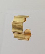"5/8"" Wide Corrugated Brass Hoop"