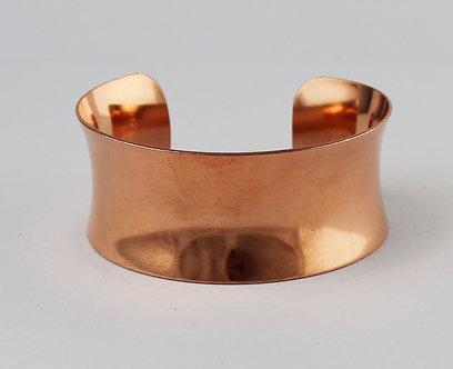 """1 1/8"""" Concave Copper Cuff Bracelets"""