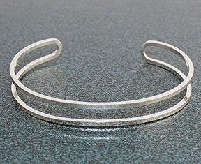 Double Row Square Wire Cuff