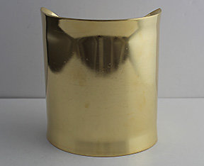"3"" Brass Cuff With Flared Edges"