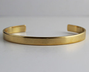 "1/4"" to 3/4"" Plain Brass Cuffs"