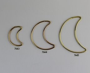 Brass Wire Shaped Moons