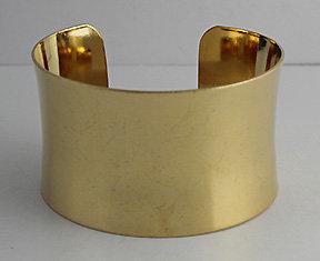 """1 1/2"""" Concave Brass Cuff"""