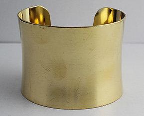 """2"""" Concave Brass Cuffs"""