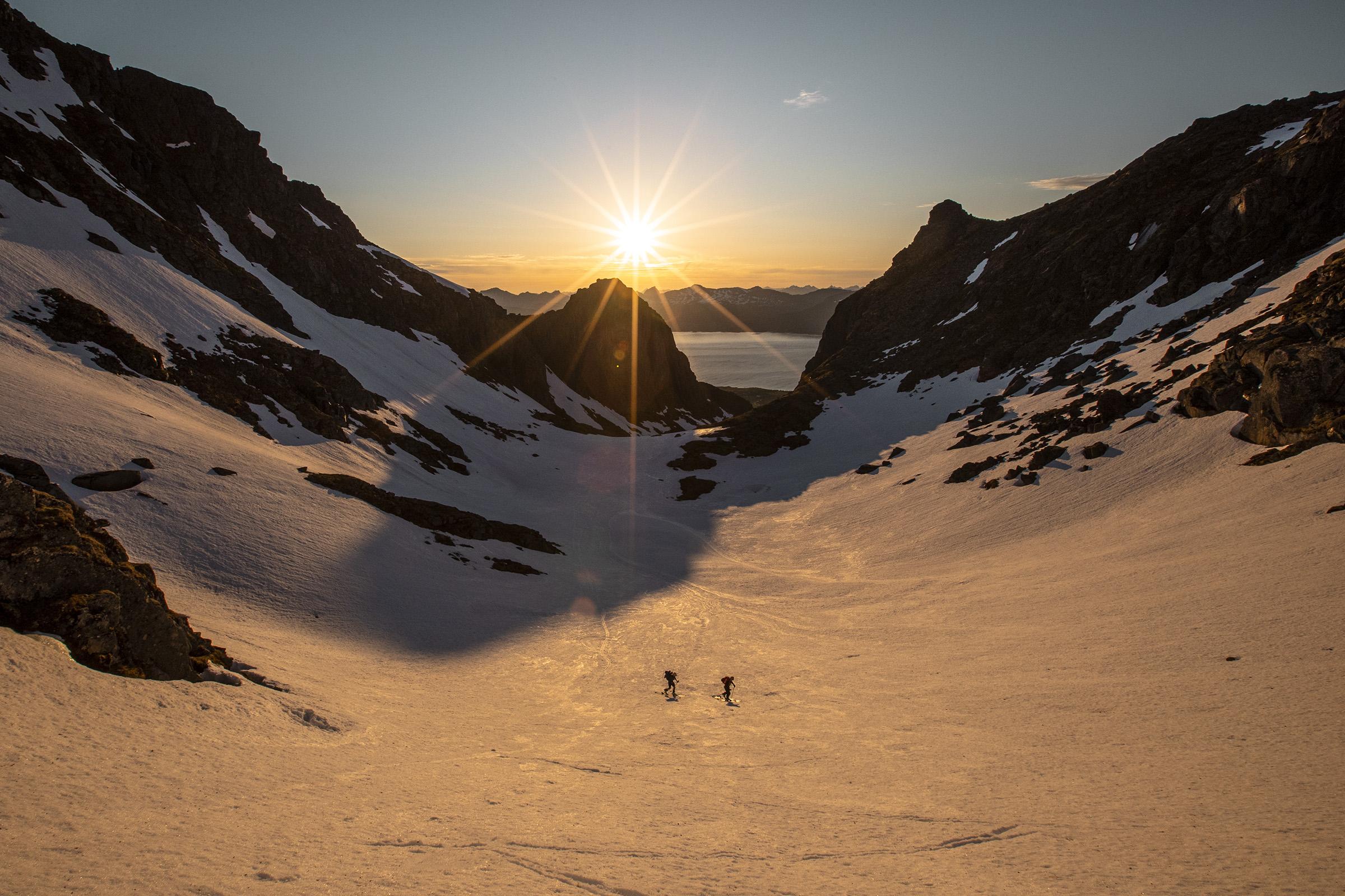 Skiing in Lofoten 2