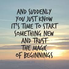 New Beginnings, New Adventures