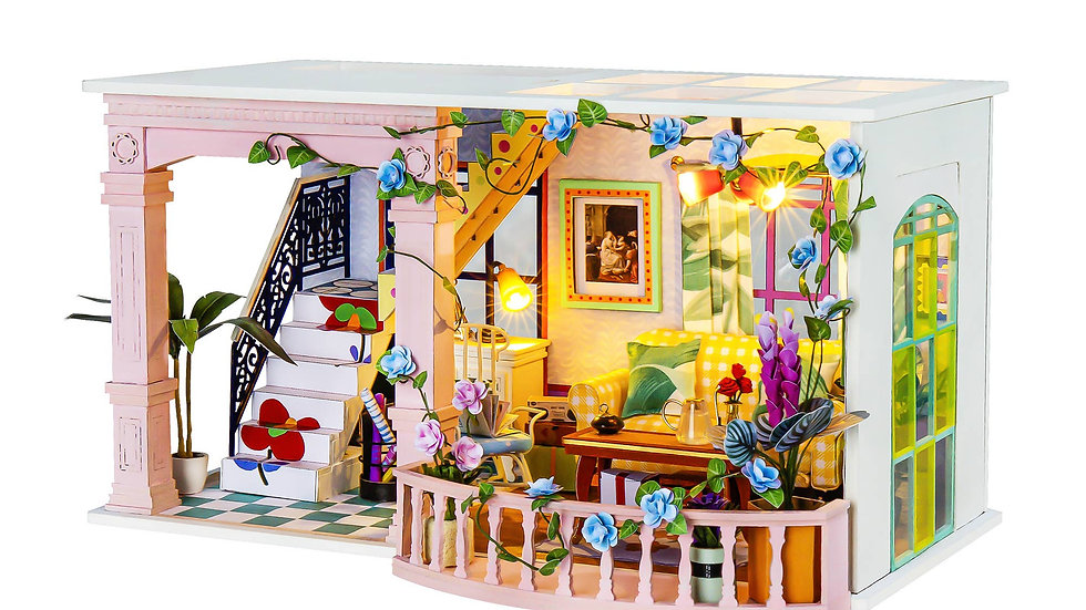 Sweet Patio DIY Miniature Dollhouse Kit