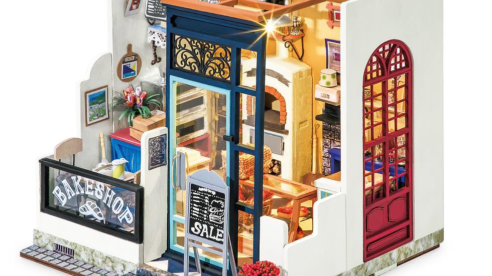 Bakery DIY Miniature Dollhouse Kit