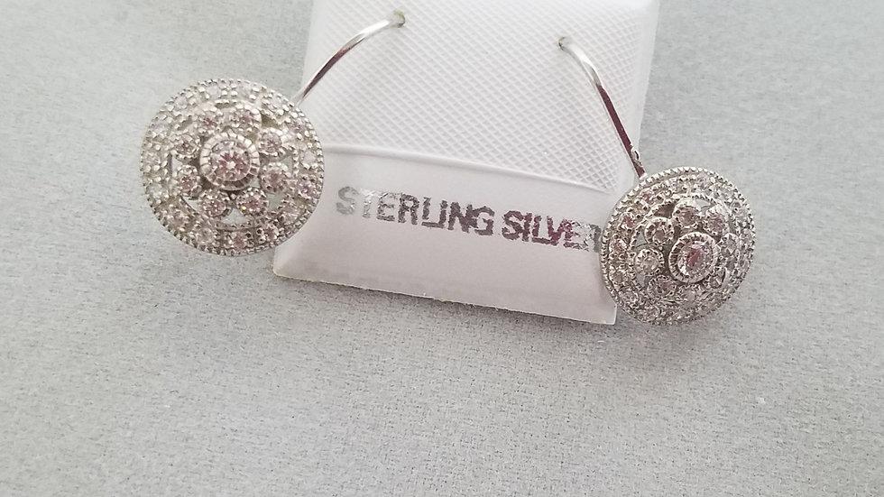 Lever back cz earrings
