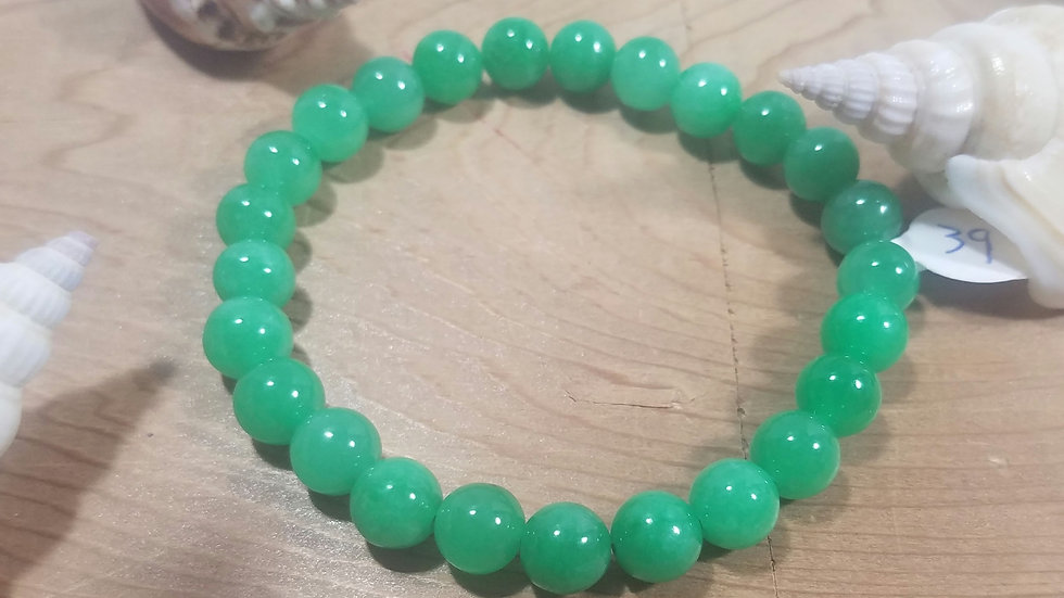 Jade beaded stretch bracelet