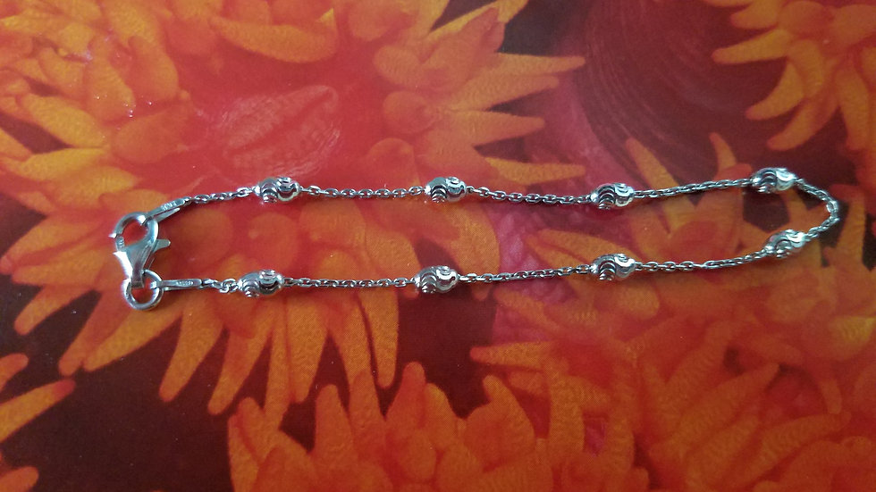 Bead and chain anklet
