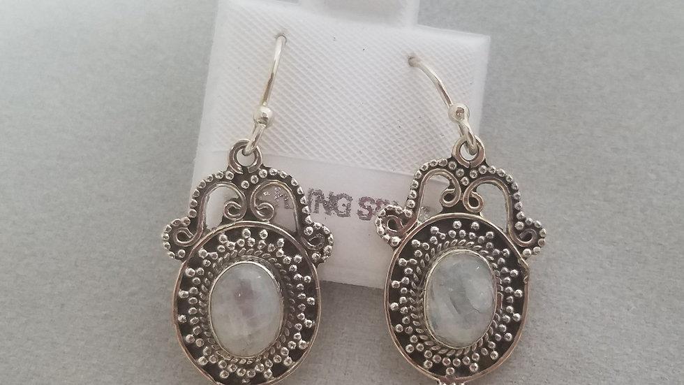 Moonstone vintage style earrings