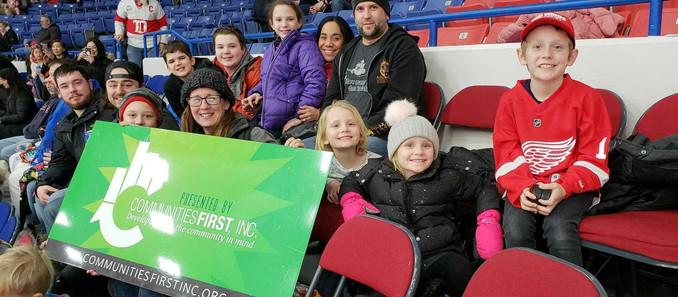 Cline, Cline & Griffin Donates Flint Firebirds Tickets to Communities First, Inc.