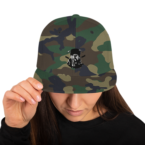 Graphwize Black & White Snapback Hat