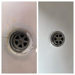 Damaged caravan shower trays in west sussex