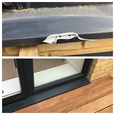 Cracked upvc frame repairs in Kent.