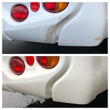 Motorhome damaged bumper