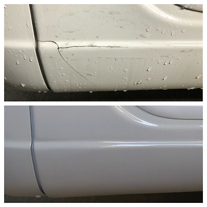 Cracked motorhome panel repair in West Sussex