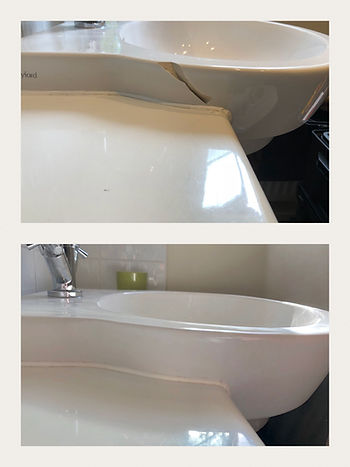 Cracked basin repair in Surrey.