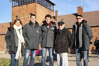 Paul Sobol à Birkenau avec l'asbl Agora